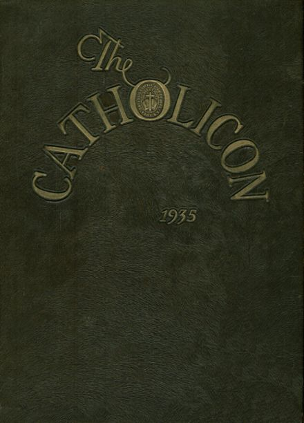 1935 Catholic Central High School Yearbook Cover