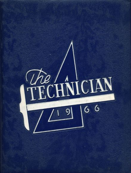 1966 Boston Technical High School Yearbook Cover