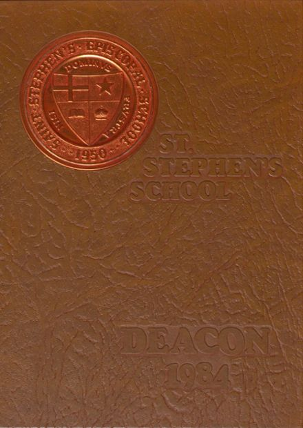 1984 St. Stephen's Episcopal High School Yearbook Cover