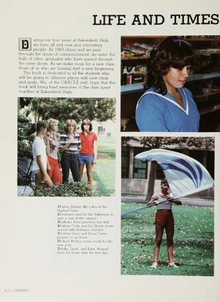 1983 Bakersfield High School Yearbook Page 8