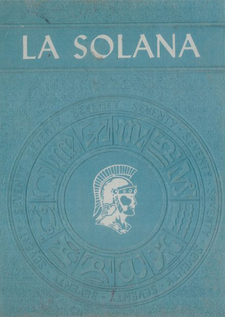 1970 Central Union High School Yearbook Cover