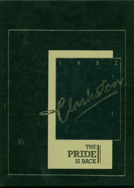 1987 Clarkston High School Yearbook Cover