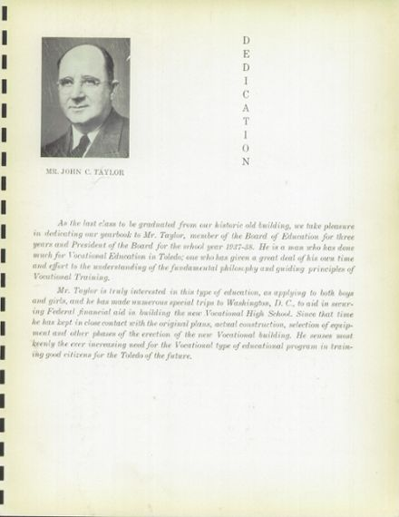 1938 Macomber Vocational High School Yearbook Page 9