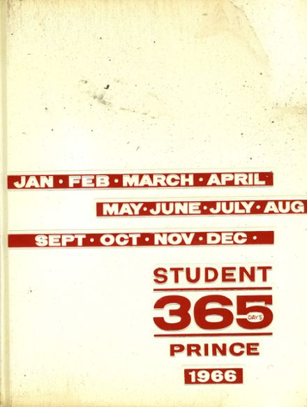 1966 Princeton High School Yearbook Cover