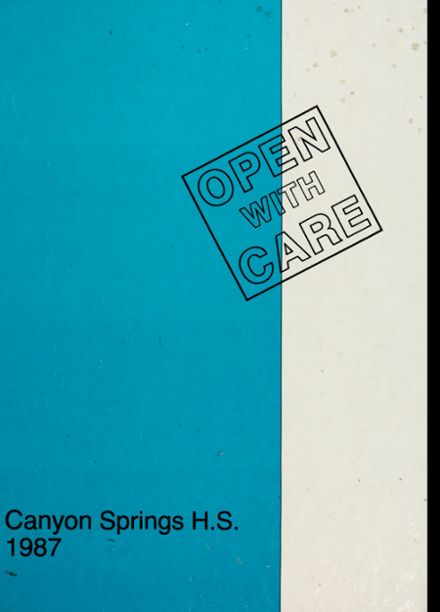 1987 Canyon Springs High School Yearbook Cover