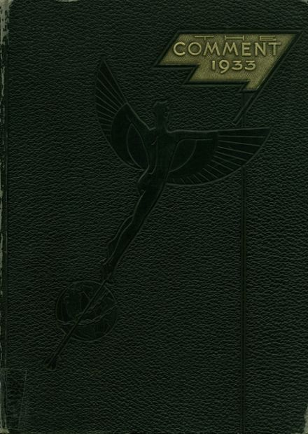 1933 Keokuk High School Yearbook Cover