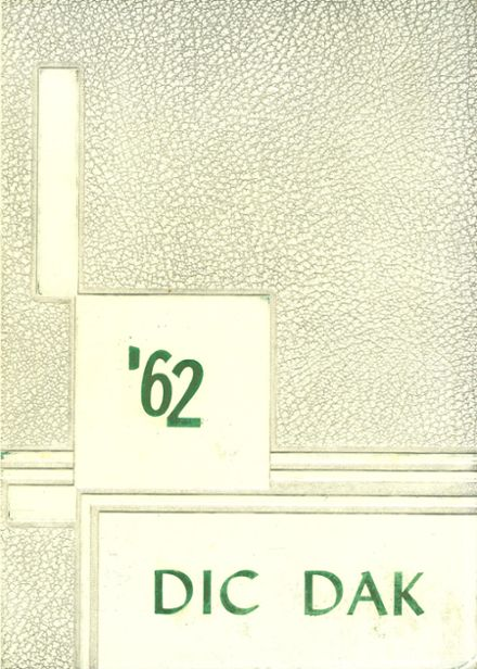 1962 Dickinson High School Yearbook Cover