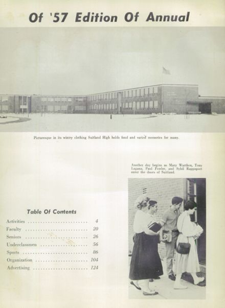 1957 Suitland High School Yearbook Page 7