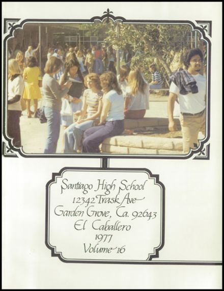 Explore 1977 Santiago High School Yearbook Garden Grove Ca Classmates