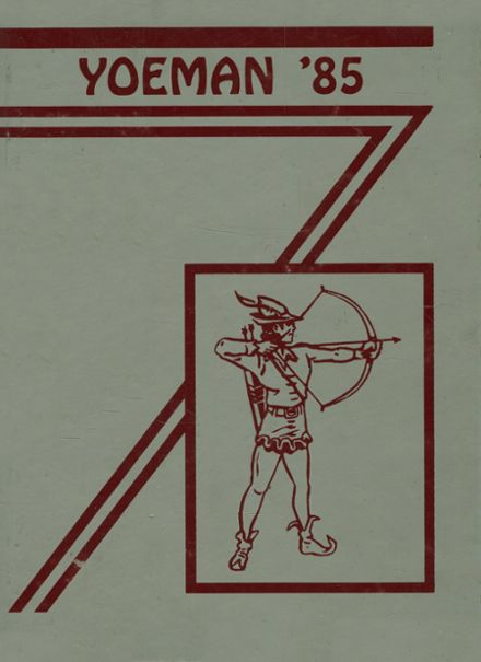 1985 Yoe High School Yearbook Cover