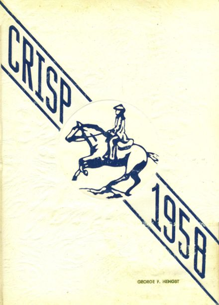 1958 Caesar Rodney High School Yearbook Cover