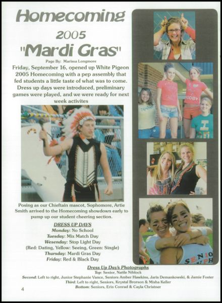 6/7; 2006 White Pigeon High School Yearbook Page 8 ...
