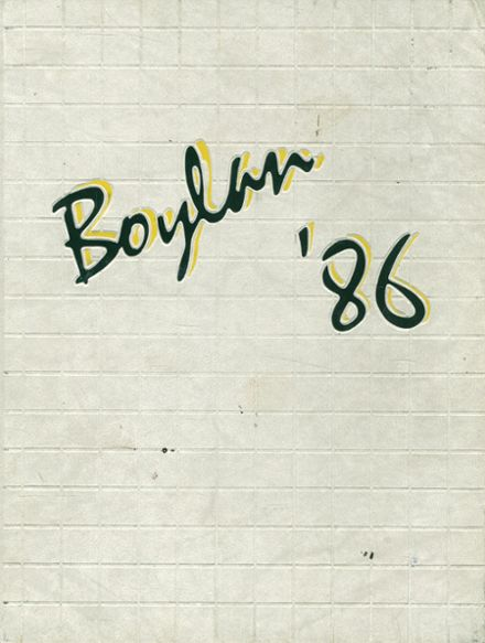 1986 Boylan Central Catholic High School Yearbook Cover