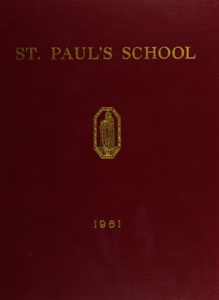 1961 St. Paul's School Yearbook Page 1