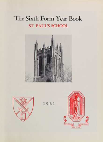 1961 St. Paul's School Yearbook Page 5