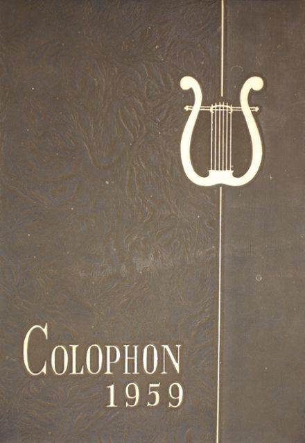 1959 Wyomissing Area High School Yearbook Cover