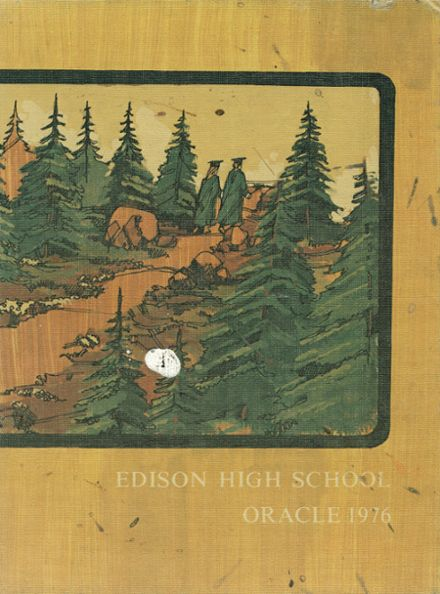 1976 Edison High School Yearbook Cover