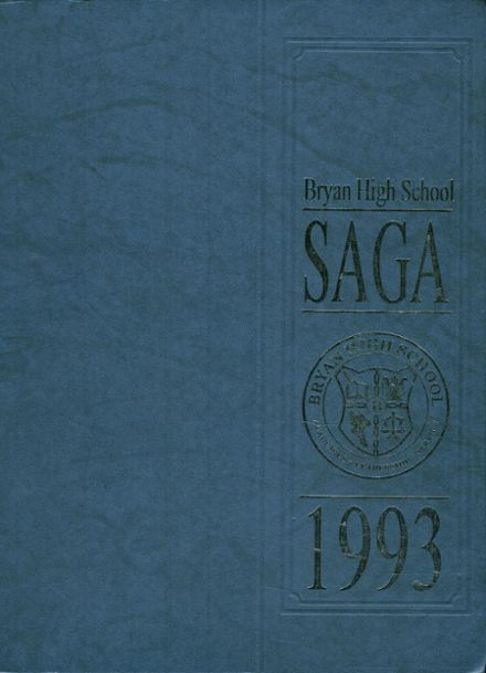 1993 Bryan High School Yearbook Cover