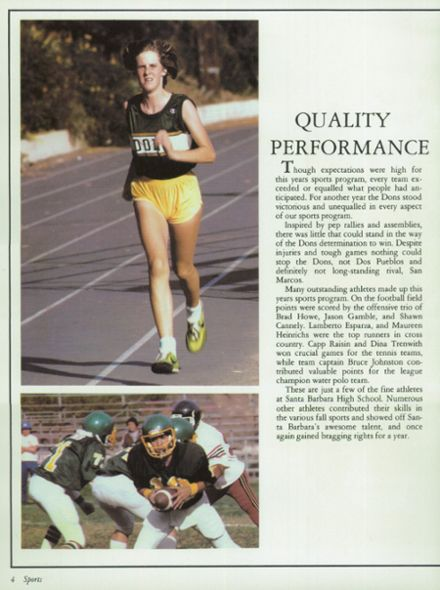 SANTA BARBARA High School Yearbook 1985 Swimsuit