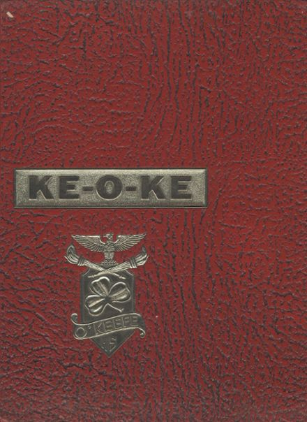 1968 O'Keefe High School Yearbook Cover