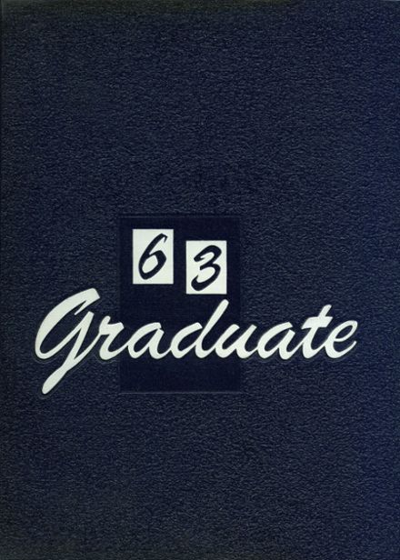 1963 Greenville High School Yearbook Cover