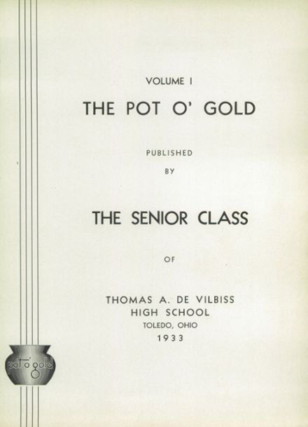 1933 DeVilbiss High School Yearbook Page 5