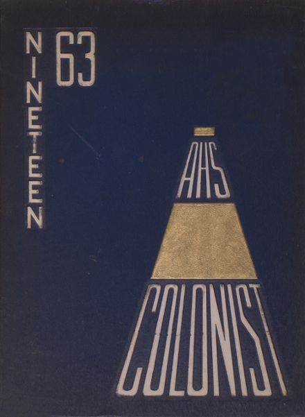 1963 Anaheim High School Yearbook Cover