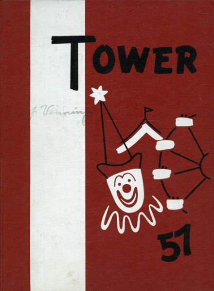 1957 North High School Yearbook Cover