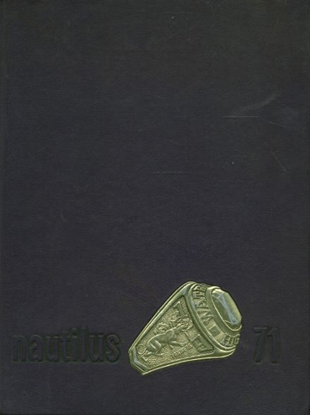 1971 Waterville High School Yearbook Cover