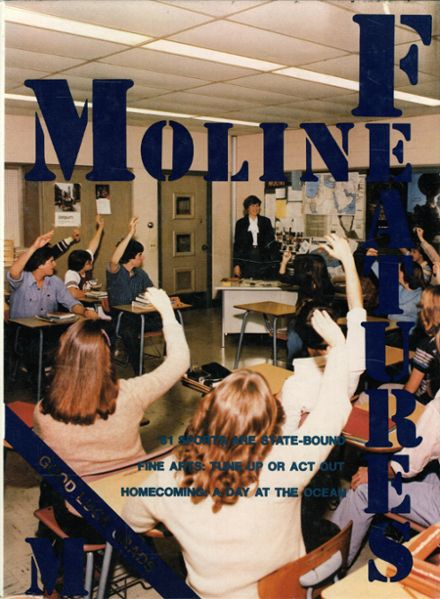 1981 Moline High School Yearbook Cover