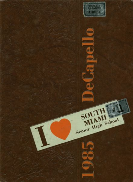 1985 South Miami High School Yearbook Cover