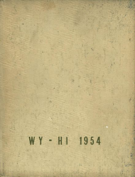1954 Roosevelt High School Yearbook Cover