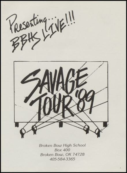 Explore 1989 Broken Bow High School Yearbook, Broken Bow