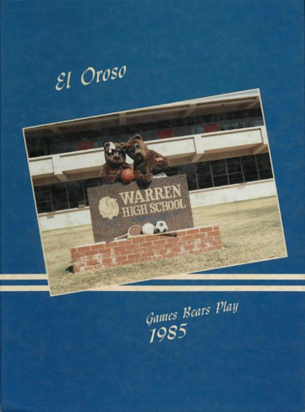 1985 Warren High School Yearbook Cover