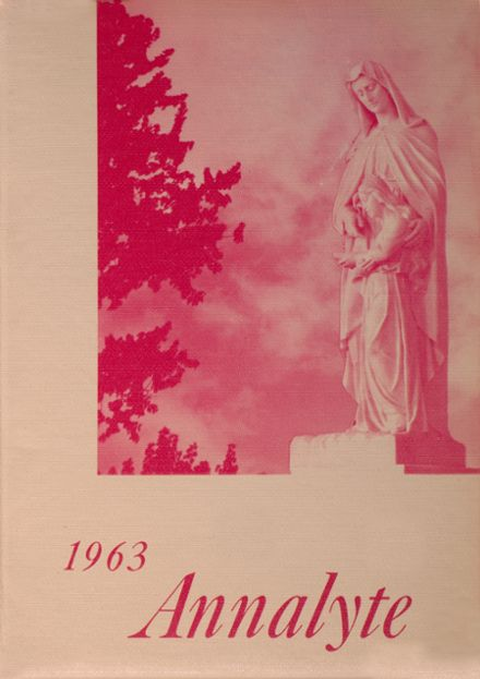 1963 St. Ann's High School Yearbook Cover
