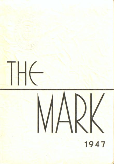 1947 St. Mark's Catholic School Yearbook Cover