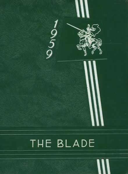 1959 Bladensburg High School Yearbook Cover