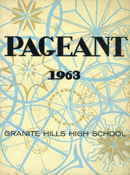 1963 Granite Hills High School Yearbook Cover