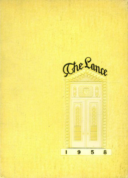 1958 St. Catherine's High School Yearbook Cover