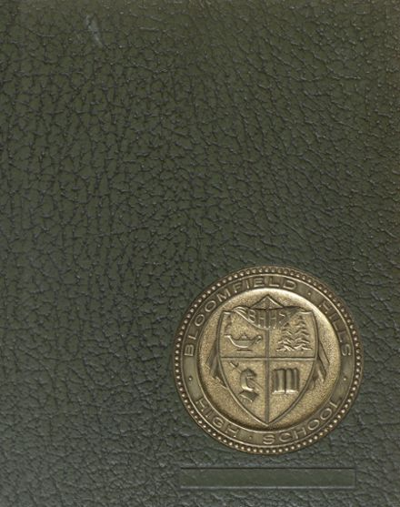 1966 Bloomfield Hills High School Yearbook Cover