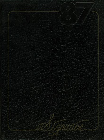 1987 Central High School Yearbook Cover