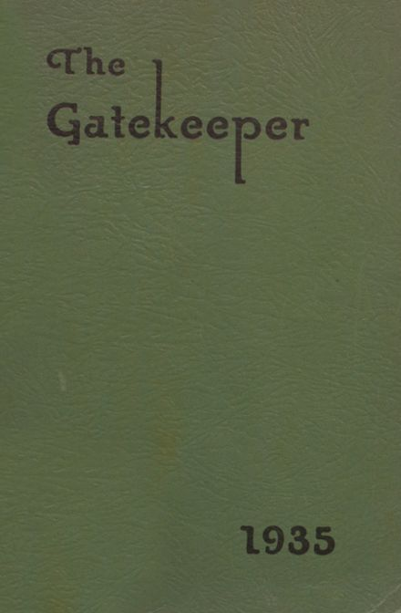 1935 St. Peter's High School Yearbook Cover