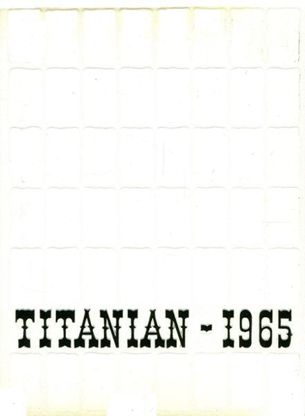 1965 San Marino High School Yearbook Cover
