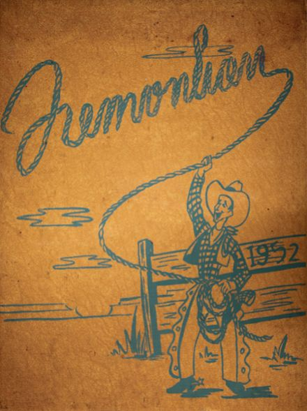 1952 Fremont High School Yearbook Cover