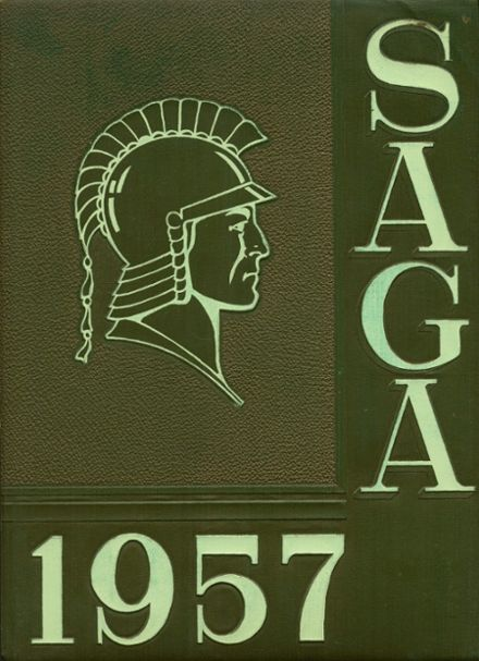 1957 Woodward High School Yearbook Cover