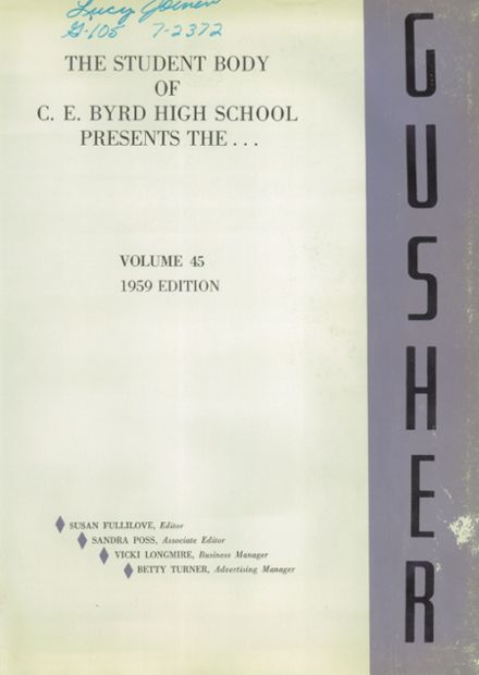 1959 Byrd High School Yearbook Page 5