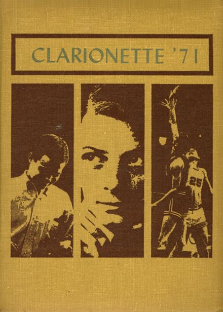 1971 Clarion Area High School Yearbook Cover