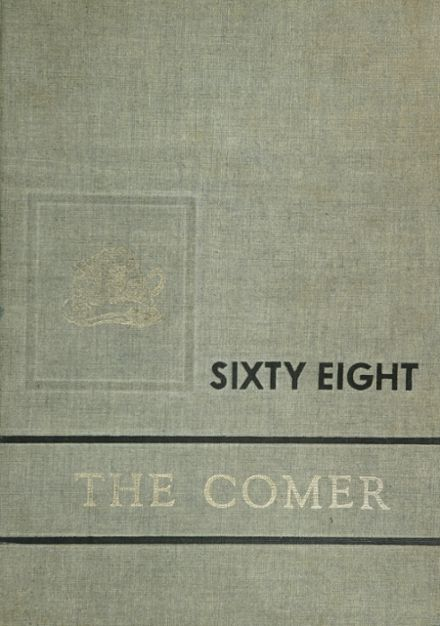1968 B. B. Comer Memorial High School Yearbook Cover