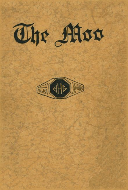 1930 Holstein High School Yearbook Cover