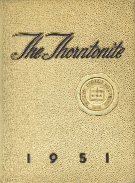 1951 Thornton Township High School Yearbook Cover